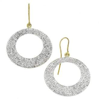 Crystelle 340330018 Earrings with White Swarovski Crystals Oval 36 mm