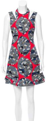 Opening Ceremony Cutout Printed Dress