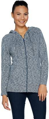 Isaac Mizrahi Live! TRUE DENIM Hooded Zip-Up Sweater Tunic