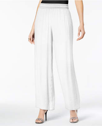 Thalia Sodi Wide-Leg Soft Gauze Pants
