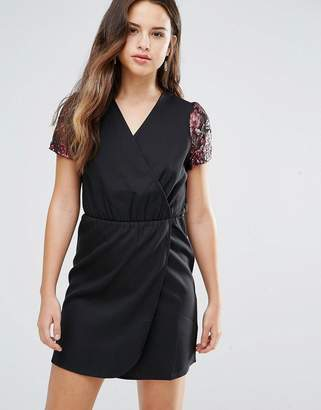 Louche Direll Wrap Front Dress