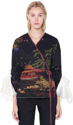 Act N°1 Cotton Canvas Printed Kimono Jacket