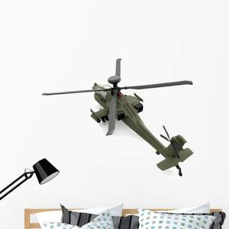 Wallmonkeys LLC Military Toy Helicopter Wall Decal by Wallmonkeys Peel and Stick Graphic (48 in W x 37 in H) WM69254