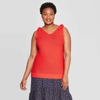 Ava & Viv Women's Plus Size V-Neck Sweater Tank Top