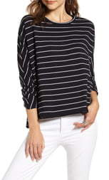 Frank And Eileen Oversize Stripe Sweatshirt
