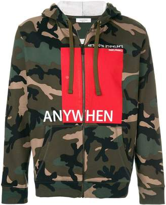 Valentino Anywhen printed camouflage hoodie