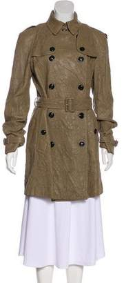 Burberry Laser Cut Leather Coat