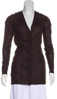 Prada Mohair-Blend Knit Cardigan