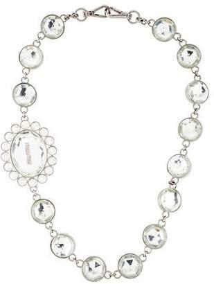 Miu Miu Crystal Station Necklace