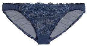 Heidi Klum Intimates Lace And Tulle Low-Rise Briefs