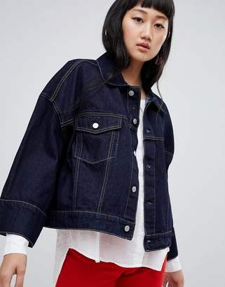 Weekday wide sleeve denim jacket