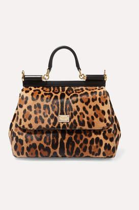 Dolce & Gabbana Sicily Medium Leopard-print Calf Hair Tote - Leopard print