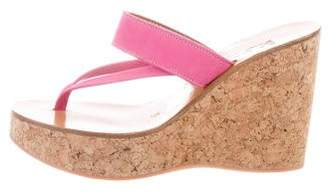 K Jacques St Tropez Platform Wedge Sandals