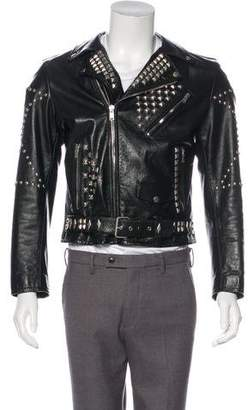 Saint Laurent 2016 Studded Leather Moto Jacket