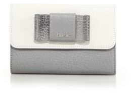 Miu Miu Miu Miu Madras Two-Tone Leather Bow-Flap Wallet
