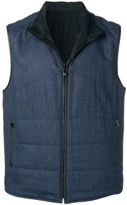 Corneliani zipped gilet jacket