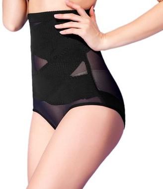 Unique Bargains Black Size XL Postpartum High Waist Belly Tummy Control Shaping Underwear Panty