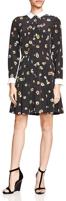 The Kooples Silk Camellia Print Shirt Dress $425 thestylecure.com