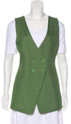 Armani Collezioni Double-Breasted Textured Vest