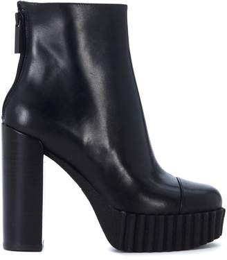 KENDALL + KYLIE Kendall+kylie Cadence Black Leather Ankle Boots