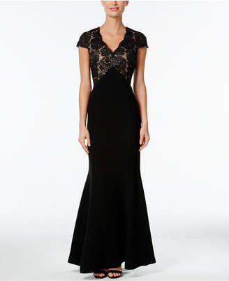 Calvin Klein Sequined Lace Mermaid Gown