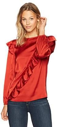 Ella Moon Women's Kanyia Long Sleeve Diagonal Ruffle Top