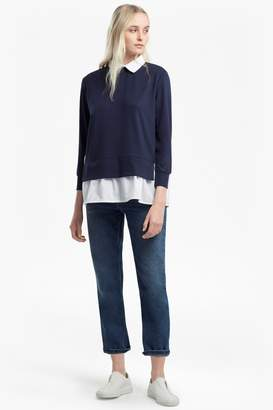 French Connection Fresh Jersey Pleated Back Jumper