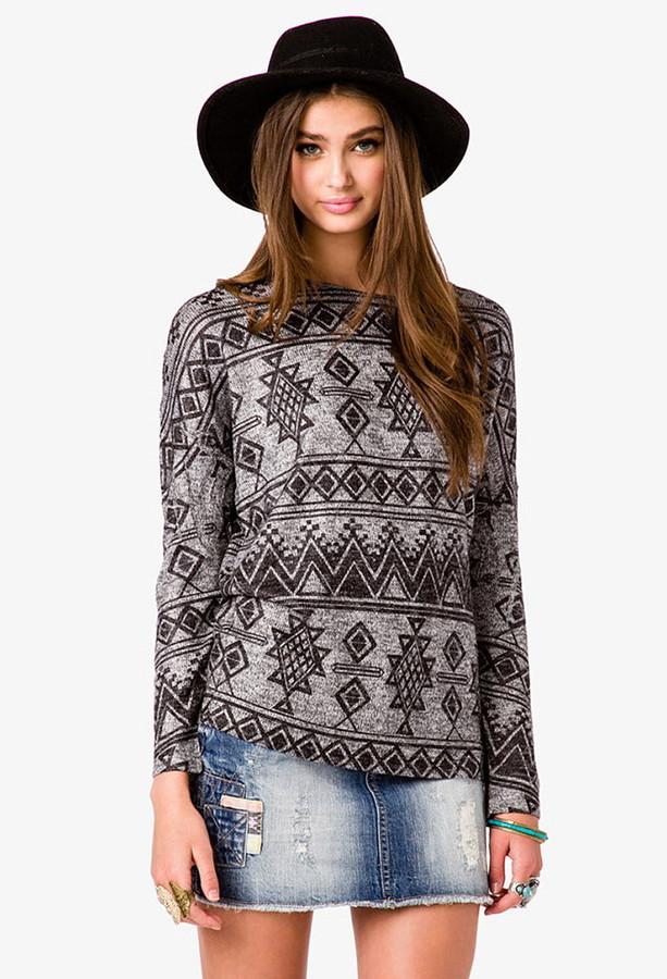 Forever 21 Tribal Print Sweater