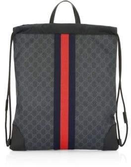 Gucci GG Signature Web Drawstring Backpack