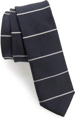 BOSS Horizontal Stripe Silk Skinny Tie