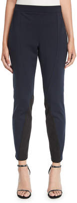 Donna Karan Colorblocked Seamed Leggings