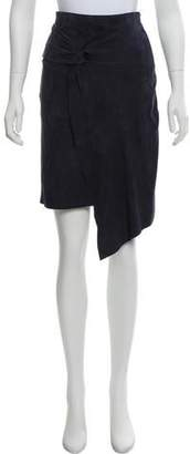 BA&SH Suede Knee-Length Skirt