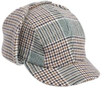 Borsalino Checkered Wool Blend Sherlock Hat