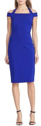 Lauren Ralph Lauren Halter Off-the-Shoulder Sheath Dress - 100% Exclusive $165 thestylecure.com