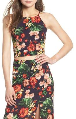 Lush Floral Tie Back Tank Top
