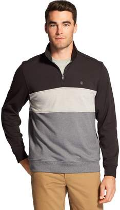 Izod Men's Advantage SportFlex Performance Colorblock Stretch Quarter-Zip Pullover