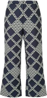 Bianca Spender diamond cropped bootleg trousers