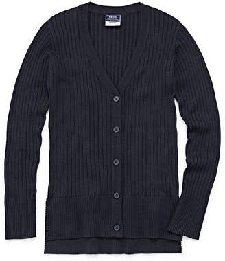 Izod EXCLUSIVE Exclusive Long Sleeve V Neck Cardigan Girls 4-18 and Plus