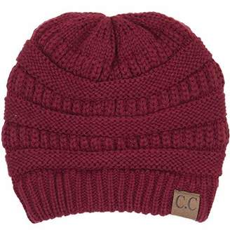 5b268d40851 By Summer BYSUMMER C.C Warm Soft Cable Knit Skull Cap Slouchy Beanie Winter  Hat