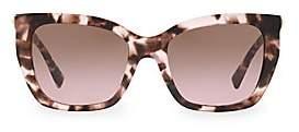 Valentino Women's 53MM Rockstud Square Cat Eye Sunglasses