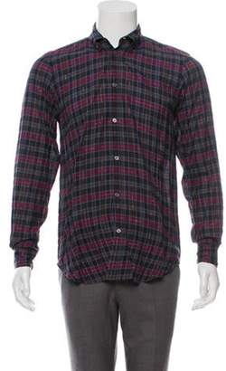 Marc by Marc Jacobs Plaid Point Collar Shirt black Plaid Point Collar Shirt