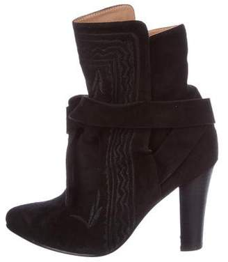 Ulla Johnson Suede Wrap-Around Boots