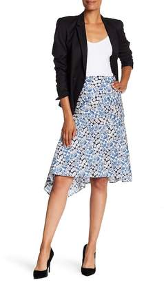 Lafayette 148 New York Asymmetrical Printed Skirt