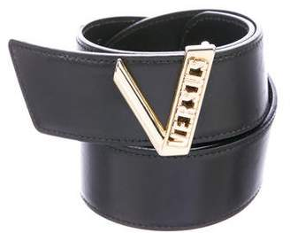 Versus Leather Buckle Belt