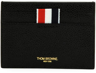 Thom Browne Single Card Holder with Vertical Stripes