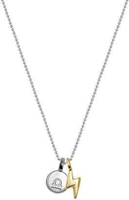 Alex Woo Sterling Silver & 14K Yellow Gold Mini Libra Pendant Necklace