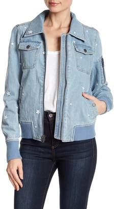 Lucky Brand Star Denim Bomber Jacket