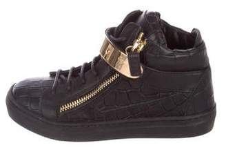 Giuseppe Zanotti Girls' Nicki Leather Sneakers