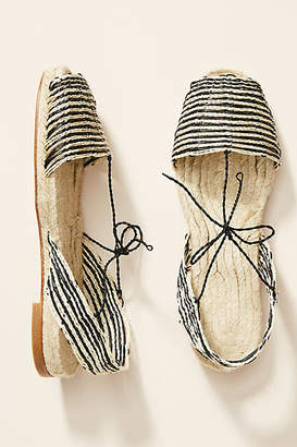 Ball Pages Striped Espadrille Sandals