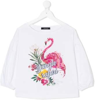 MonnaLisa sequinned flamingo blouse